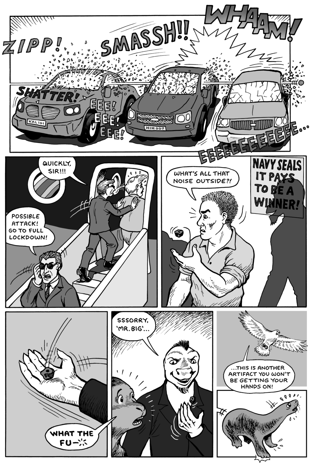Komos & Goldie comic by Karno, page 14
