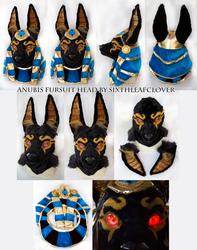 Egyptian Anubis Fursuit Head for sale