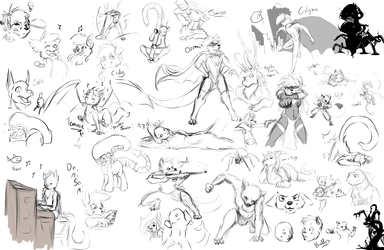stream sketches cuz i was bored