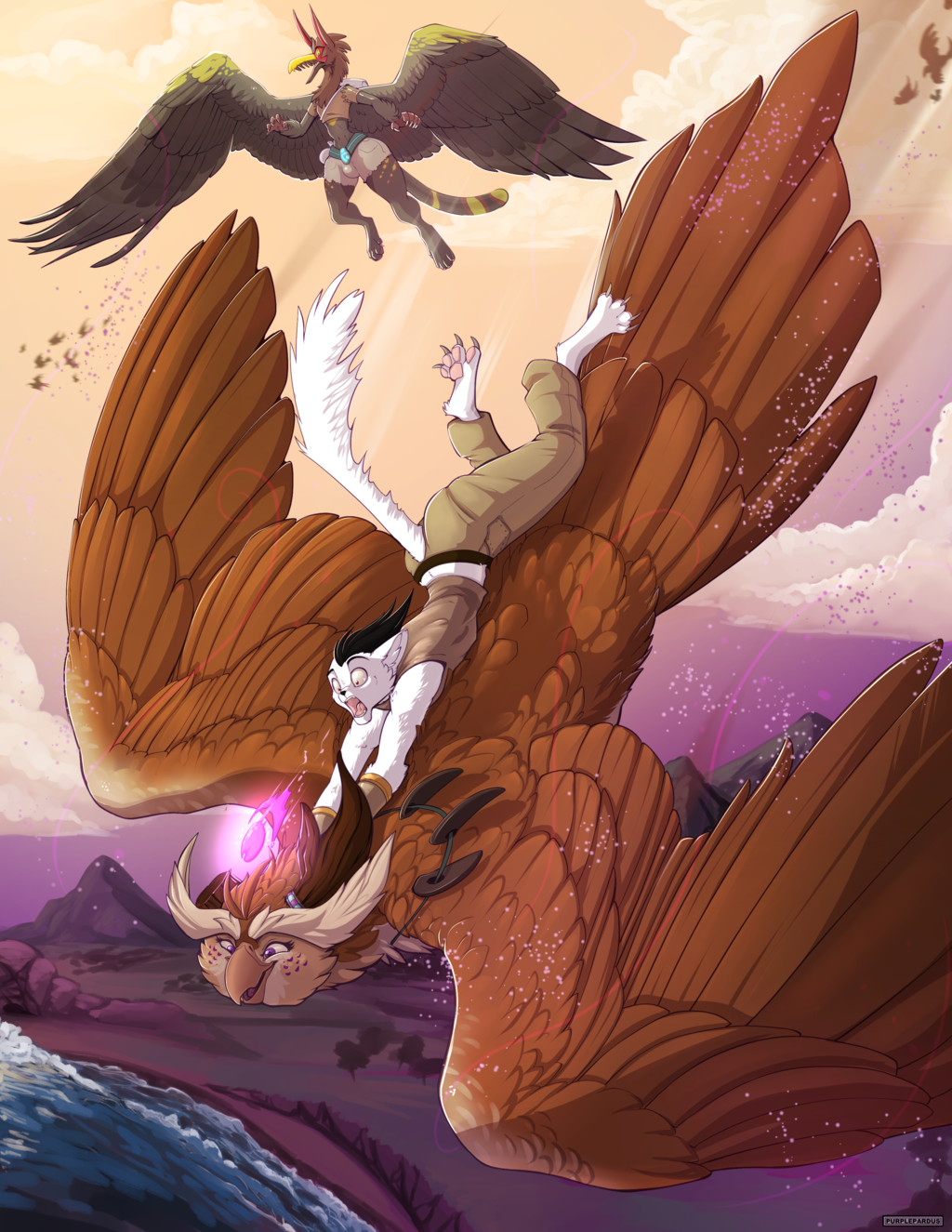 purple drake and Benny high flying adventure