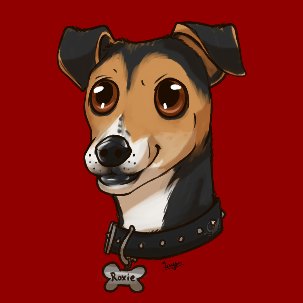 Roxie - Doggy Cartoon Portrait