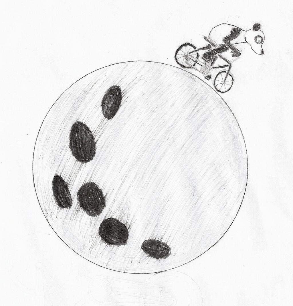 Most recent image: Panda riding bicycle on the moon