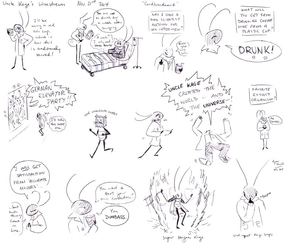 Uncle Kage Winestream Nov 21st Doodles