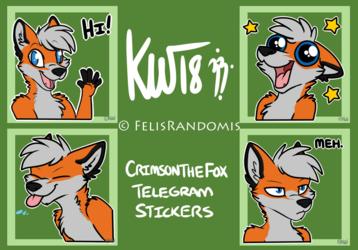 Crimson the Fox Telegram Stickers