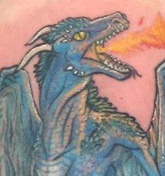 Blue Dragon Forearm Tattoo