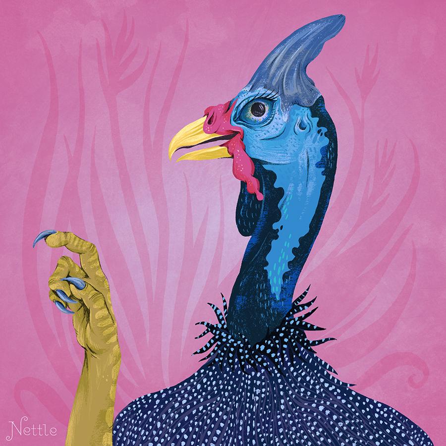 Hester the Guinea Fowl