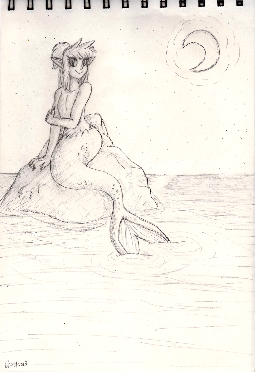 Mermaid relaxing
