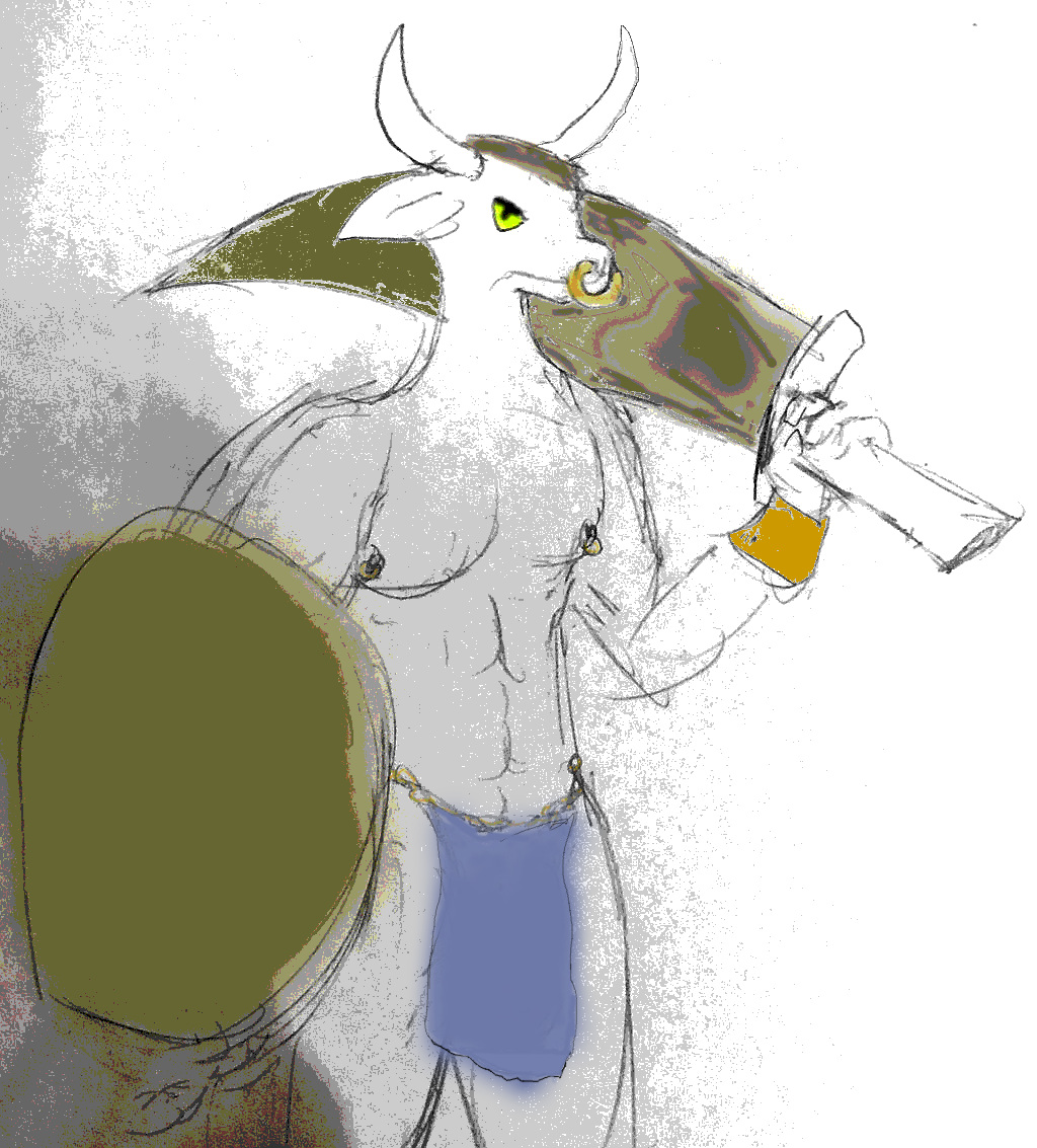 Most recent image: Clothed Minotaur