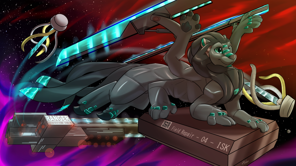 Most recent image: Commission - ApexRexAI/Bree - Space Side assistance