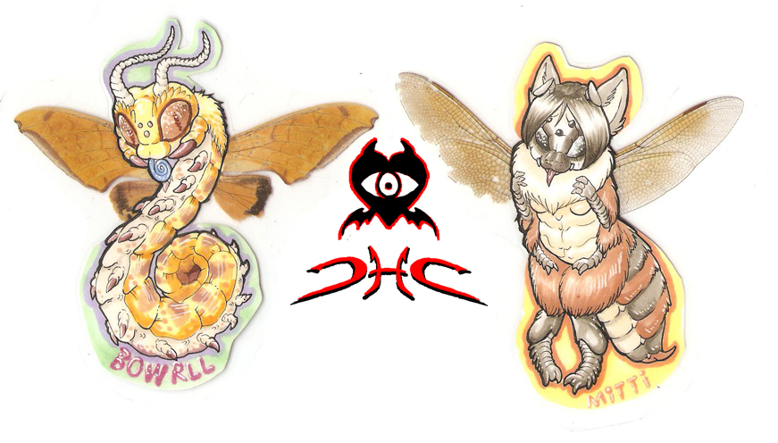 mitti and bowrll bug badges