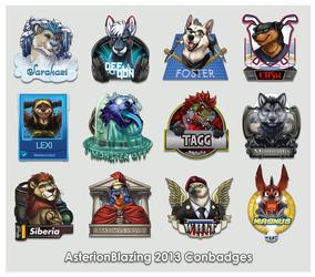 AsterionBlazing conbadge compilation 2013