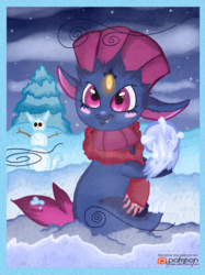 (Pokemon) Winter Weavile Making a Snowball