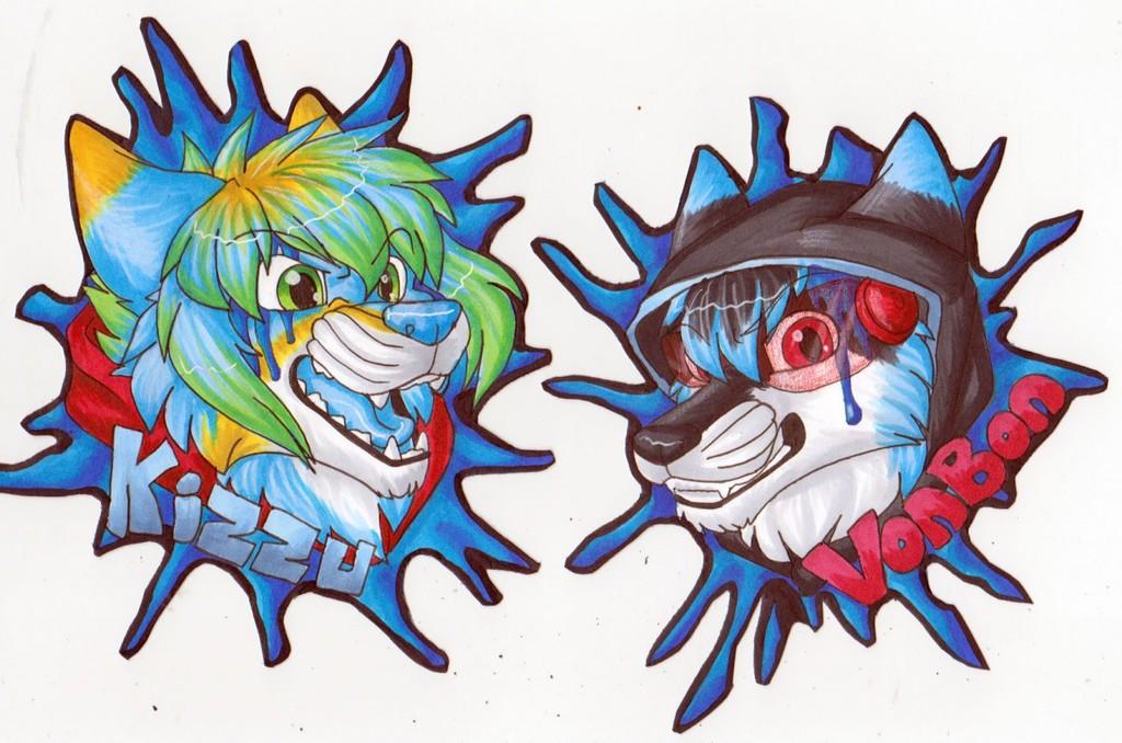BLFC badges - Kizzu and Vonbon