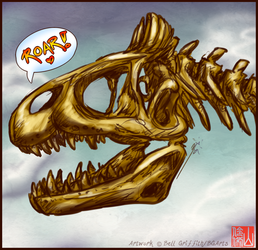 Cryolophosaur Skulll Speedsketch
