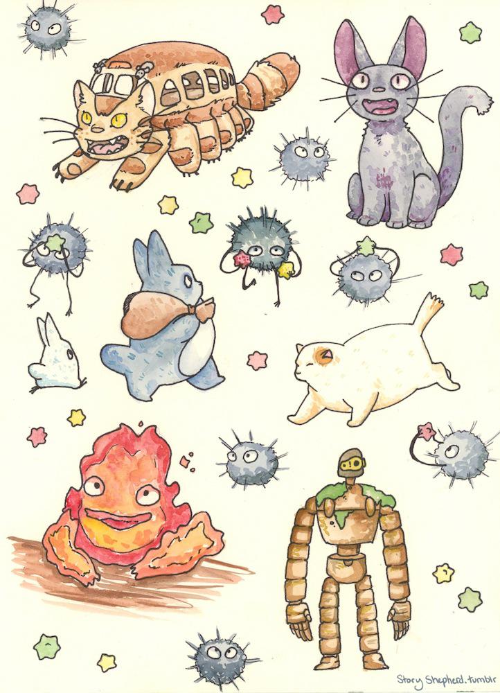 Ghibli Doodles