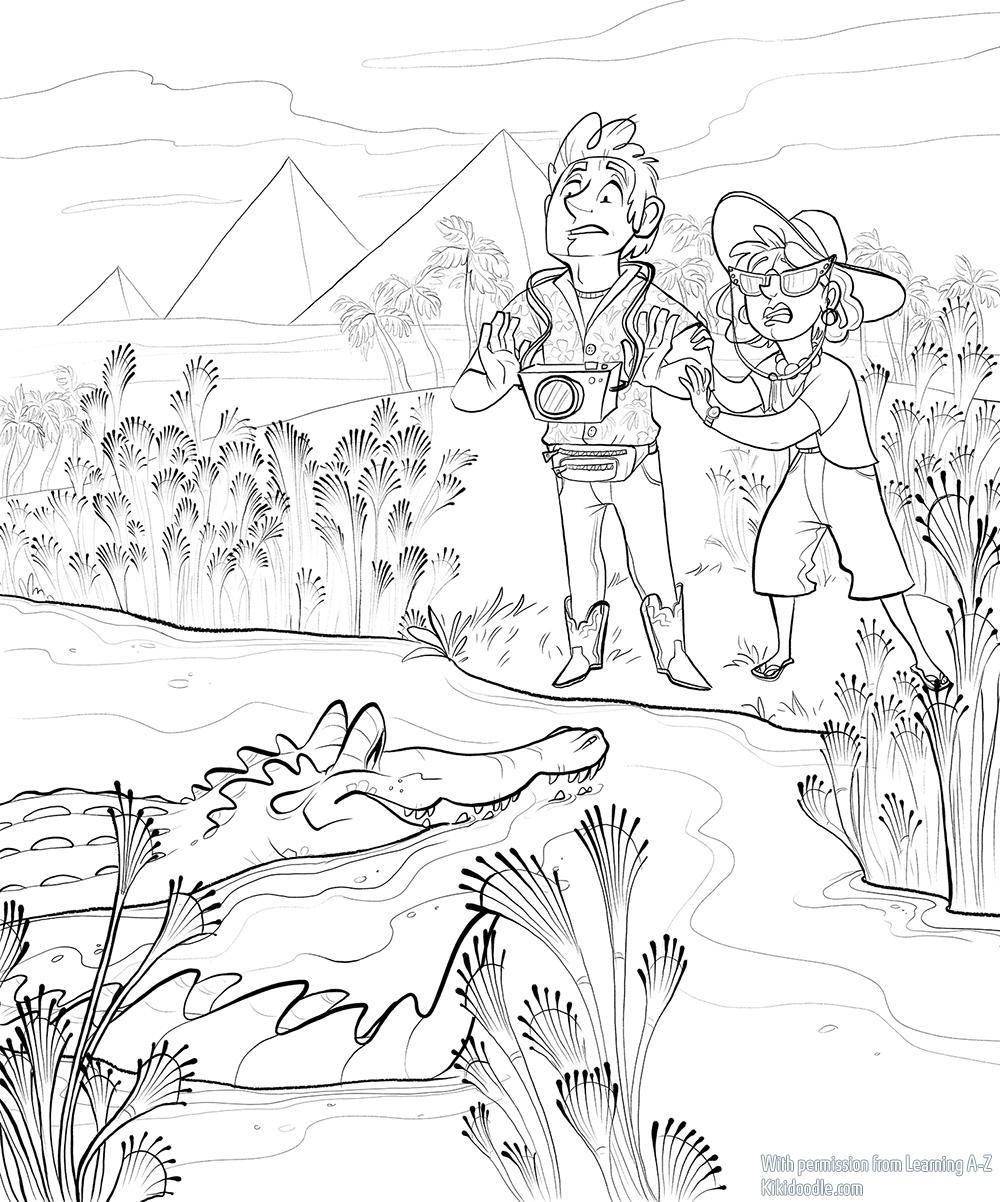 Miles the Crocodile pg 5 ink