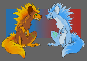 FIRE/ICE Hyenamonster adopts!