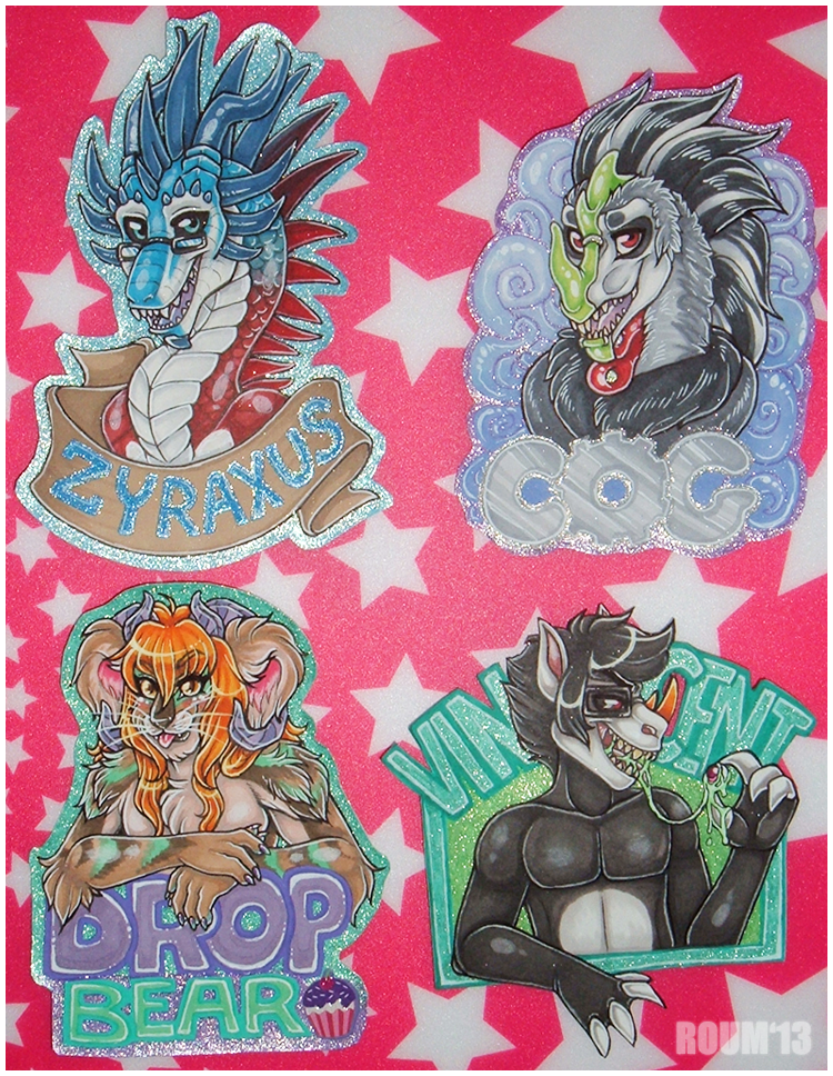 2013 Bust Badge Examples