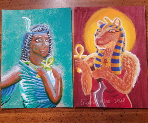 Ma'at and Sekhmet Paintings