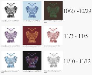 Fletchling owl on teepublic