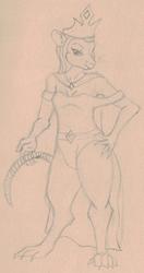 Drawtober 7 - Rat Queen