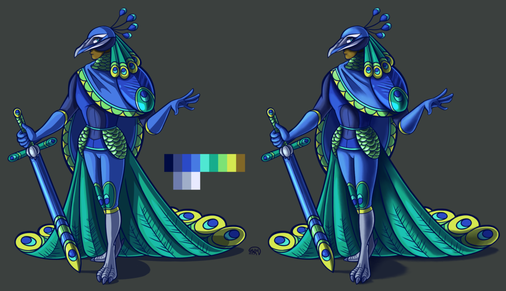 Most recent image: Peacock Knight - Shaded