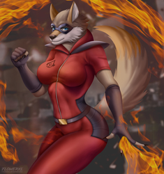 Wolf on Fire - By FlowerXL