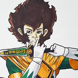 Tush Mighty Morphin Green Ranger Badge
