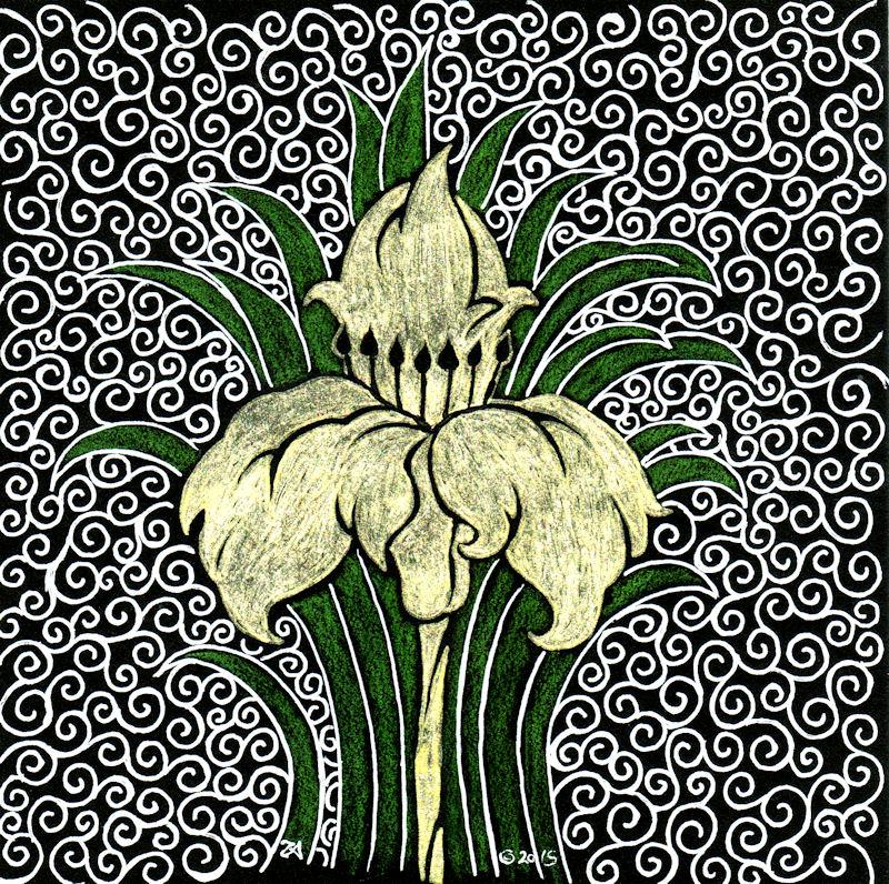 Inktober 5, Fleur de Or