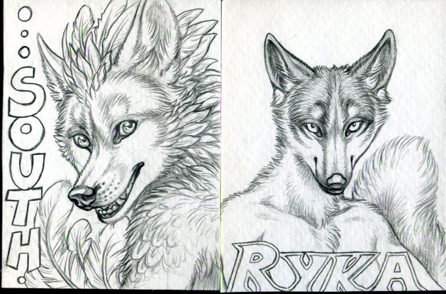South and Ryka conbadges