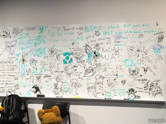 Canfurence 2017 - Headless Lounge dry erase board