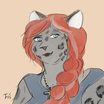 Most recent image: Chakat Blackspots headshot, by Seth
