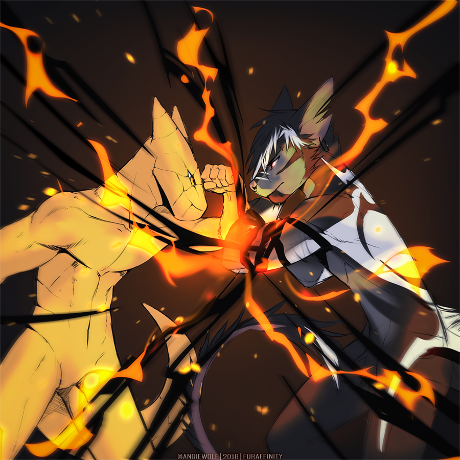 Most recent image: Draco vs Ame - by Angiewolf