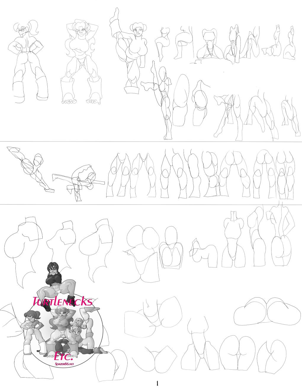 Turtlenecks sketches page 1