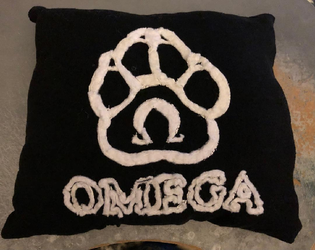 Omega tshirt pillow made for myself
