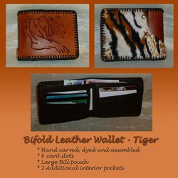 Leather Bifold Wallet - Tiger