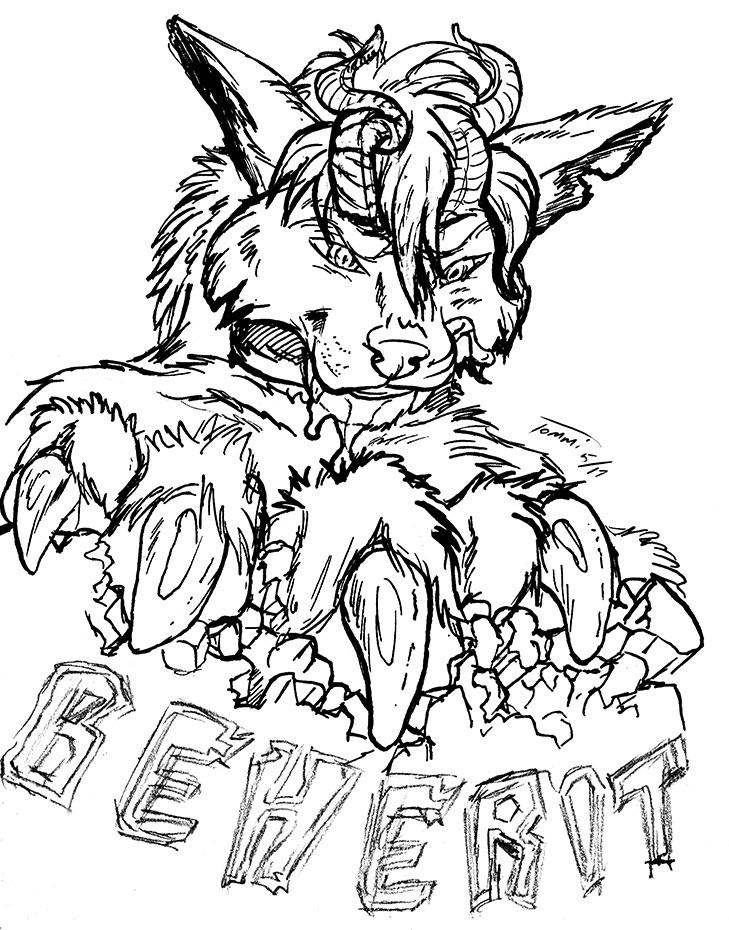 Kaiju Beherit Ink Badge