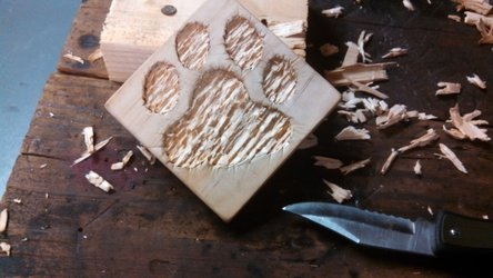 Paw Counter-Relief Carving