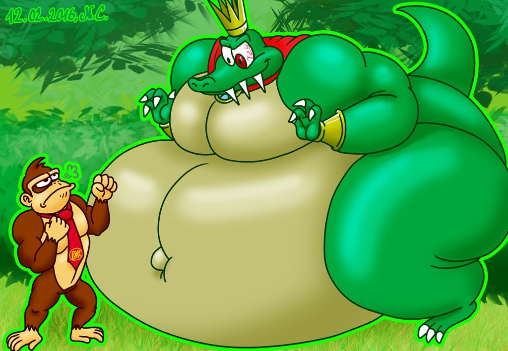 DK vs King sized K. Rool