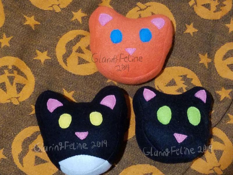 Cat Face Pincushions