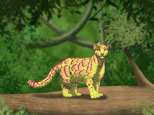 Felis Pardus - Jungle Branch Background