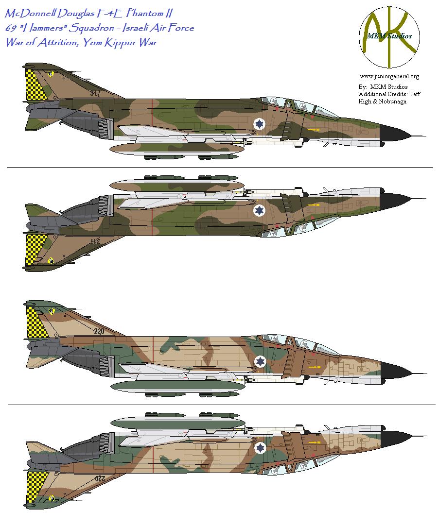 69 Squadron Phantoms