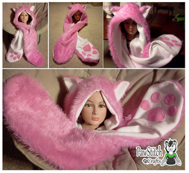 Fluffy Pink Kitty Scoodie