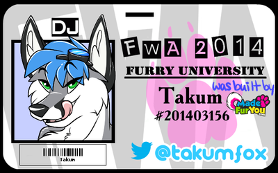 Takum FWA 2014 Badge by Wintersnowolf