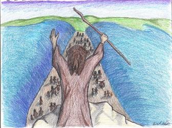 Exodus 14:21-22
