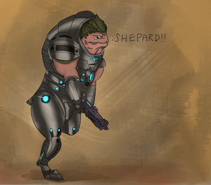 "Most recent image: Grunt: ""Shepard! """