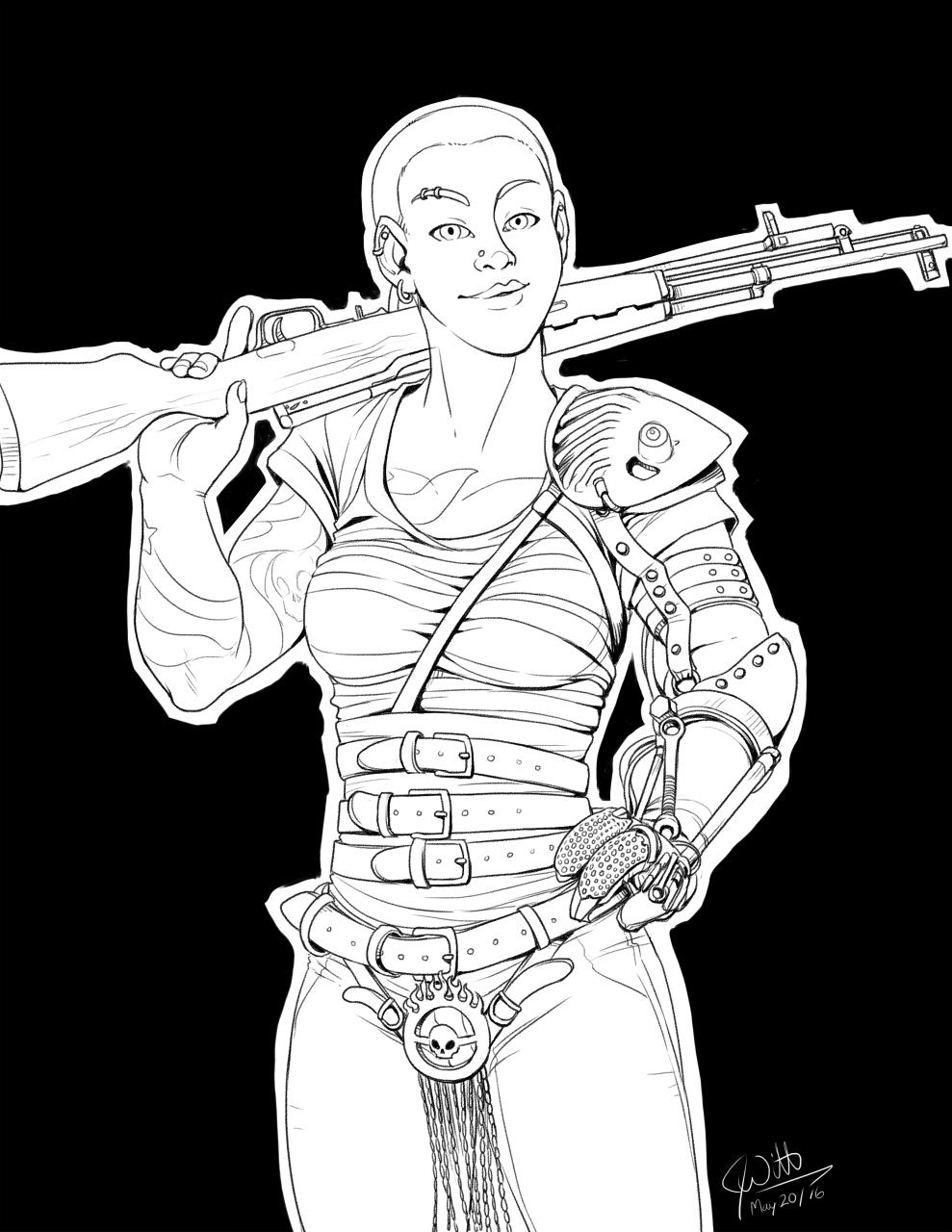 Inked Cosplay - Kara as Furiosa