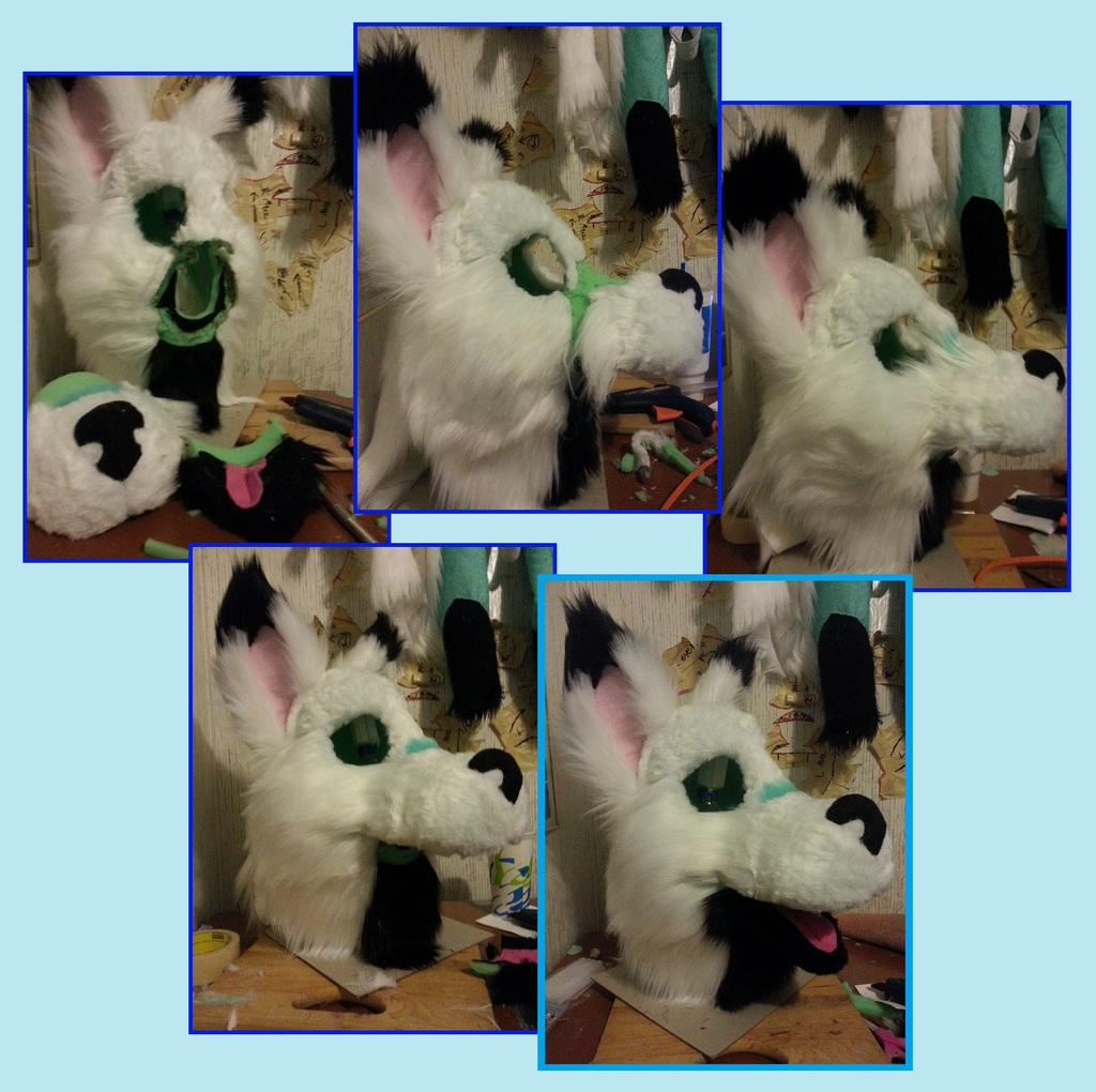 Premade Fursuit WIP - Furred Head (Edited)