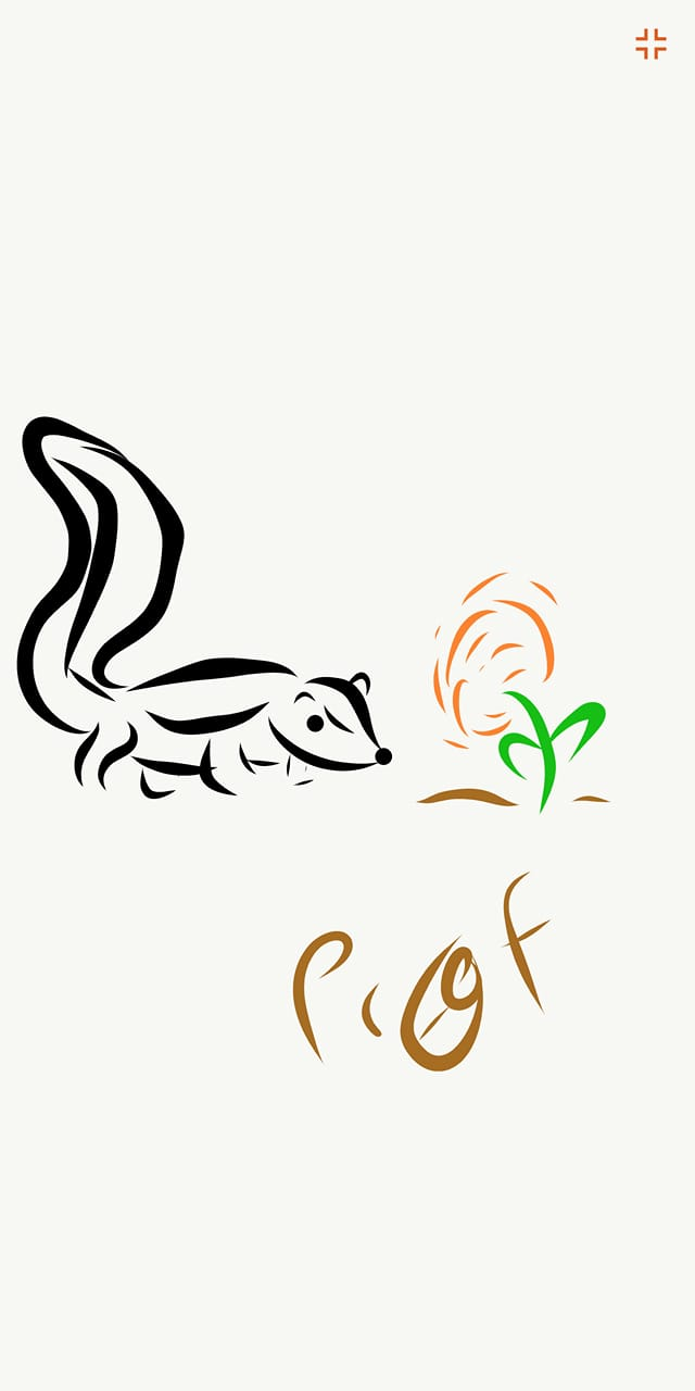 Inktober #21 Skunk and Flower Thing