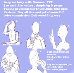 Keep Me Busy Summer YCH